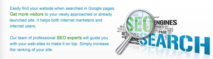 Easily find your website when searched in Google pages. It helps you get more visitors to your newly approached or already launched site. We help you bring your website to the successful standing. It helps both internet marketers and internet users